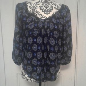 Maeve Anthropologie top peasant style size 0P